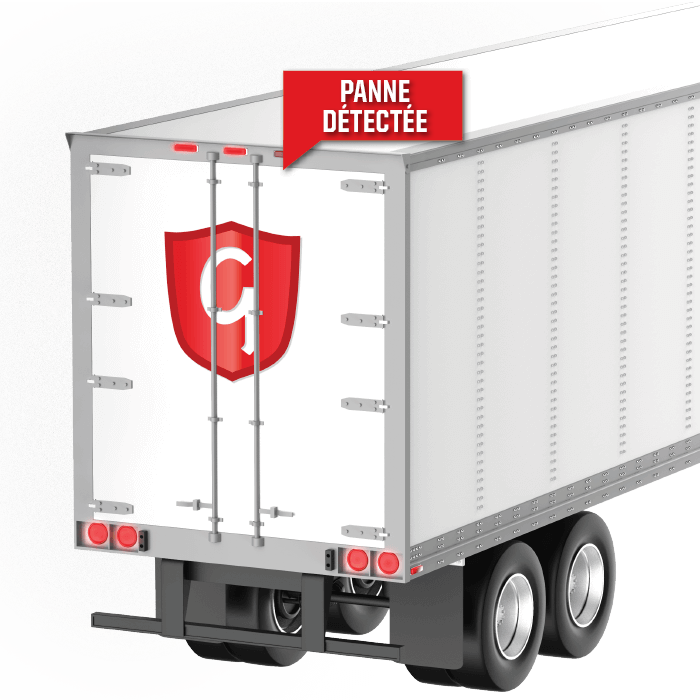 lamp outage detected on semi-trailer with Grote Guardian logo